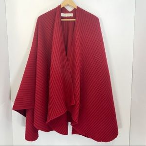 Nordstrom Red Pleated Wrap Thigh Length
